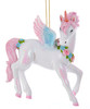 Kurt Adler Magical White and Pink Unicorn Christmas Holiday Ornament Resin