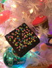 Chocolate Brownies with Sprinkles Christmas Holiday Ornaments Set of 3
