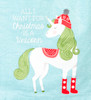 All I Want for Christmas Is a Unicorn Holiday Kitchen Dish Towel