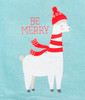 Be Merry Llama Christmas Holiday Kitchen Dish Towel