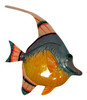 Purple and Orange Fish Wall Decor 12 Inches 12ANGW25A Resin