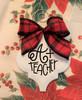 A Plus Teacher Buffalo Plaid Christmas Holiday Ornament Porcelain