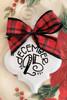 December 25th Buffalo Plaid Christmas Holiday Ornament Porcelain