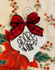 Adore Him Buffalo Plaid Christmas Holiday Ornament Porcelain