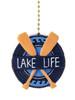 Clementine Design Lake Life Oars Ceiling Fan Light Dimensional Pull Resin Green