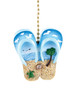 Clementine Design  Flip Flops Ceiling Fan Light Dimensional Pull Resin