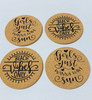 Beach Vibes Only and Girls Just Wanna Have Sun Cork Drink Coasters Set of 4