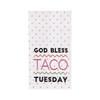 Taco Tuesday Flour Sack Kitchen Dish Towel Cotton Orange Polka Dots