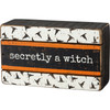 Secretly a Witch Halloween Wood Box Sign