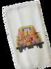 Yellow Pickup Truck and Gnomes Microfiber Waffle Weave Kitchen Dish Towel