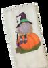 Gnome Witch on Pumpkin Halloween Microfiber Waffle Weave Kitchen Dish Towel