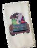 Happy Halloween Rusty Truck Ghost Bat Microfiber Waffle Weave Kitchen Dish Towel