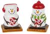 Smores Winter Snowmen Salt and Pepper Shaker Set Ceramic