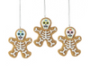 Day of the Dead Gingerbread Holiday Ornaments Set of 3