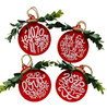 2020 Year of Mask Six Feet Rolled With It Our First Pandemic Ornaments Set of 4