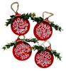 2020 Unprecedented Quarantined Love You More Stayed Home Ornaments Set of 4