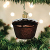 Hostess Chocolate Cupcake Licensed Christmas Holiday Ornament Glass