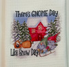 Snow Day Gnomes Microfiber Waffle Weave Kitchen Dish Towel