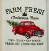 Farm Fresh Christmas Trees Truck Microfiber Waffle Weave Kitchen Dish Towel