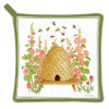 Bee Skep and Honeybees Kitchen Pot Holder Cotton