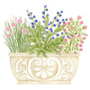 Herb Planter Filled with Herbs Flour Sack Kitchen Towel Cotton