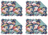 Flamingo Lagoon Print Placemats Set of 4 Quilted Cotton
