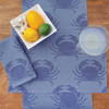 Blue Star Crab Placemats Set of 4 Woven Cotton