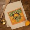 Honey Bee Vintage Look Kitchen Dish Towel Cotton