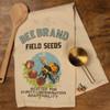Bee Brand Field Seeds Vintage Look Kitchen Dish Towel Cotton