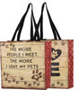 Love My Pets Market Tote Bag Reusable Double Sided Design