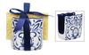 Blue and White Telavera Kitchen Sponge Holder Ceramic