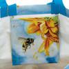 Sunflower Fields Market Tote Bag Inside Pocket Reuseable
