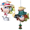 Birdwatching and Garden Fish Holiday Ornaments Set of 2 Katherines Collection