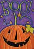 Boo! Great Big Pumpkin Happy Halloween 12 X 18 Inch Garden Flag