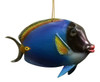 Tropical Blue Fish Christmas Ornament TFO06 Painted Resin 6 Inches