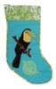 Black Toucan Bird 20 Inch Tropical Holiday Christmas Stocking