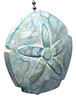 Aqua Sand Dollar Hand Carved Wood Ceiling Fan Light Pull