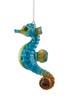 Cozumel Reef Blue Seahorse Christmas Holiday Ornament