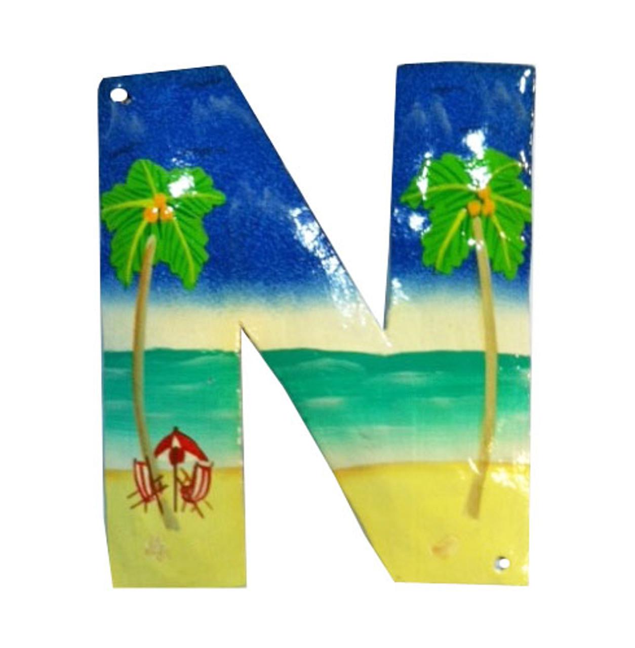 Tiki Coconut Tropical Palm Tree Haitian Metal Art