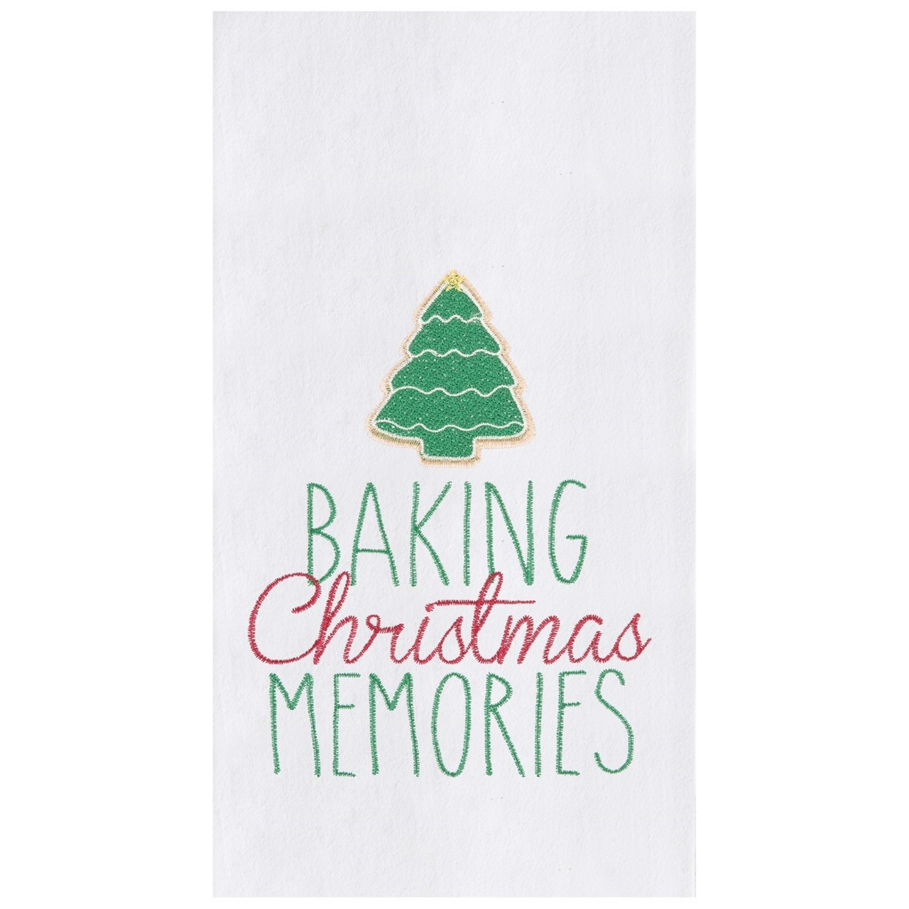 Christmas Memories.Baking Christmas Memories Cookies Holiday Kitchen Flour Sack Dish Towel