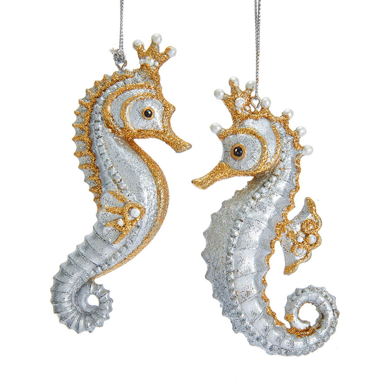 NEW Silver Mille /& Ivory Decorative Mille Sea Horse Figure Ornament