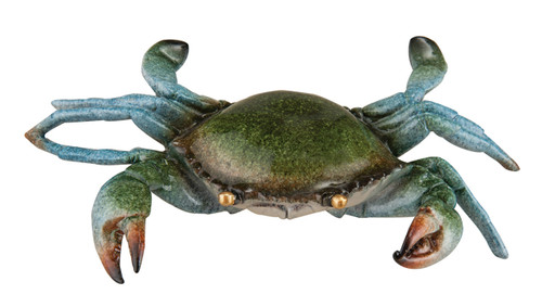 Blue Crab Sea Animal Figurine Tabletop Decor 10.25 Inches