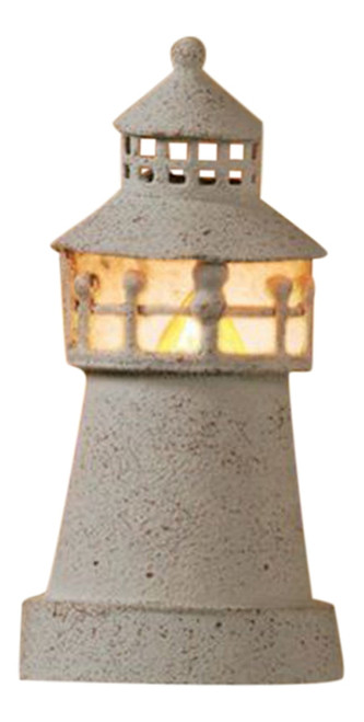 Park Designs White Metal Lighthouse Shaped Night Light Electric