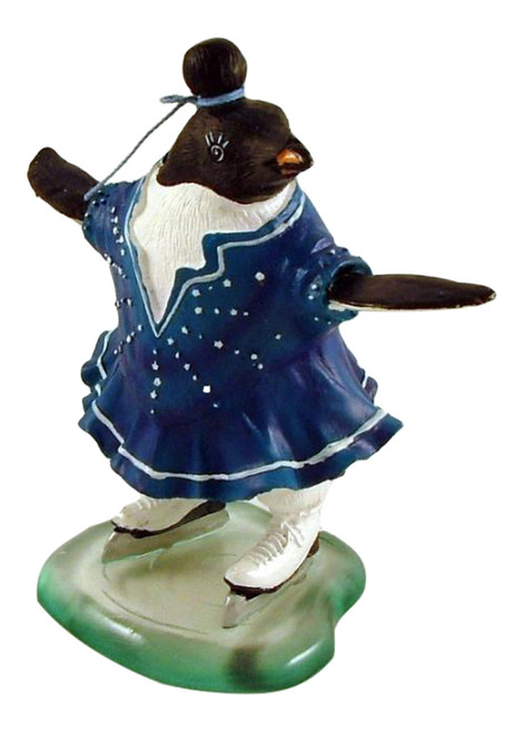 Antarctica Penguin on Ice Figure Skating Skates Figurine