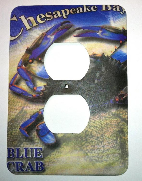 Chesapeake Bay Blue Crab Wall Outlet Metal Cover