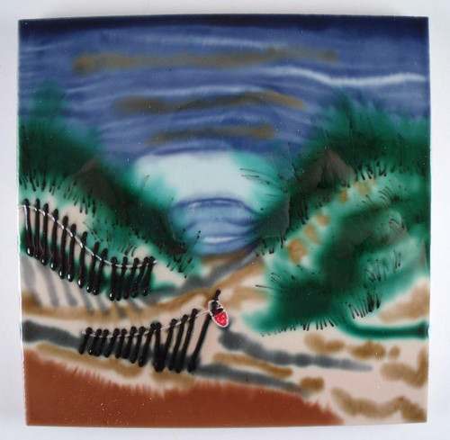 Atlantic Ocean Beach Sand Dunes Ceramic Tile Art 6X6 Inches