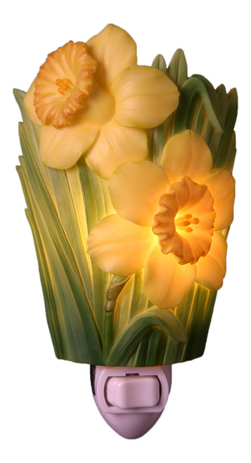 Yellow Jonquil Night Light Pretty Daffodils Spring Flowers Bonded Marble