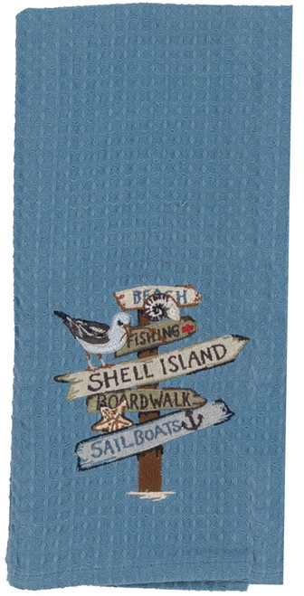 Kay Dee Designs R2923 Unwind Sea Turtle Embroidered Waffle Towel