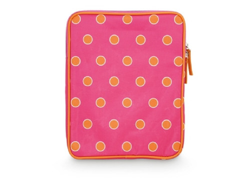 Orange Sorbet Spots Hot Pink Tech Tablet or eReader Sleeve