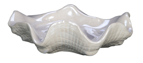 Pearly Decorative Clam Shell Tabletop Figurine 8.5 Inches